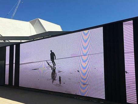 Adelaide Festival Centre media screens March 2020