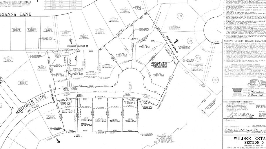 Wilder Estates Plot Map