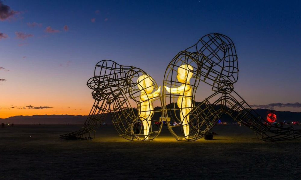"""Love"" by Alexander Milov, as seen at 2015 Burning Man"