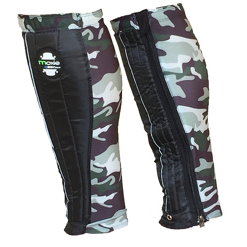 Shin Gaiter - Black & Dark Grey Camo (WideFit Options)