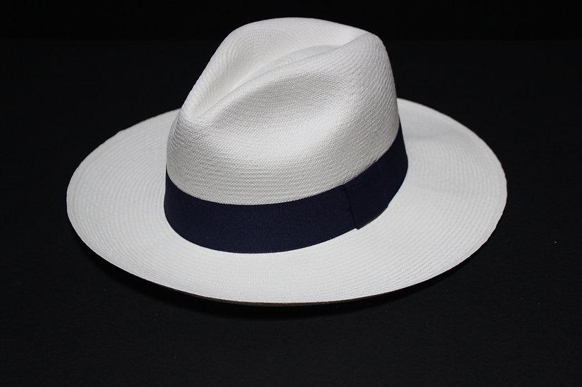 Panama Hat (Grado 2-3) Cinta Azul Oscura