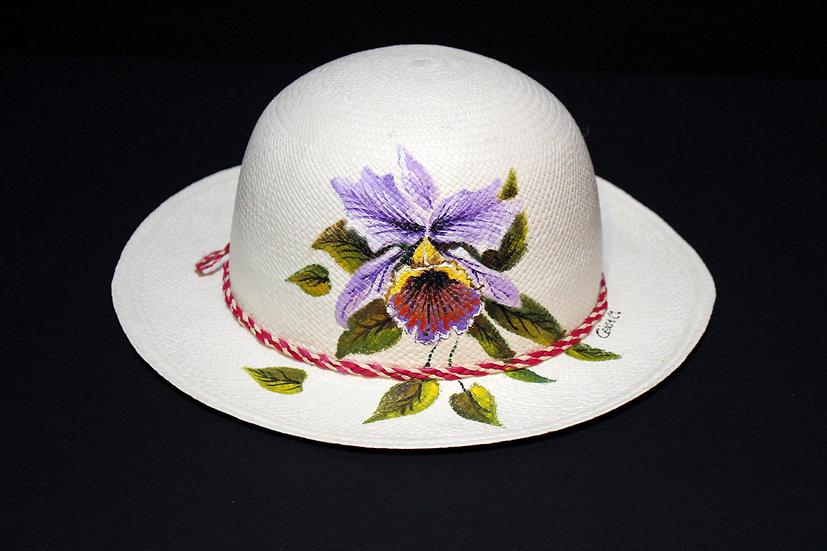 Panama Hat Mujer (Grado 0) Pintado a Mano