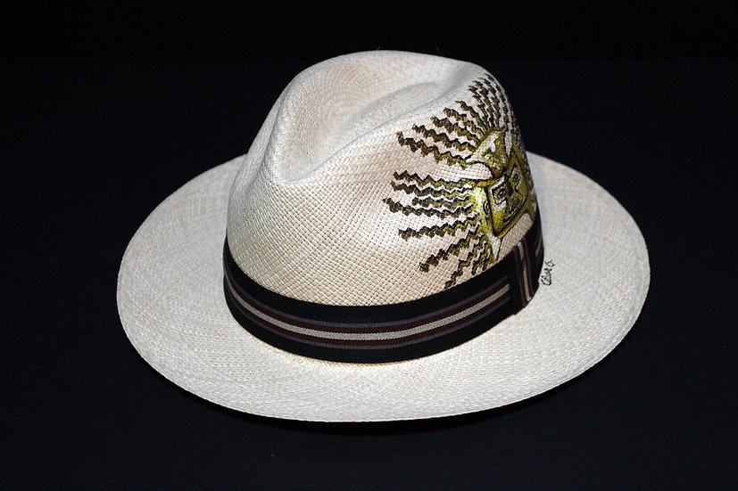 Panama Hat (Grado 0) Pintado a Mano