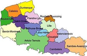 Région Nord Pas de Calais, Haut de France, Pas de Calais