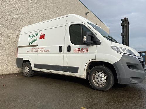 Camion d'intervention service après-vente Néo Pak' Europe