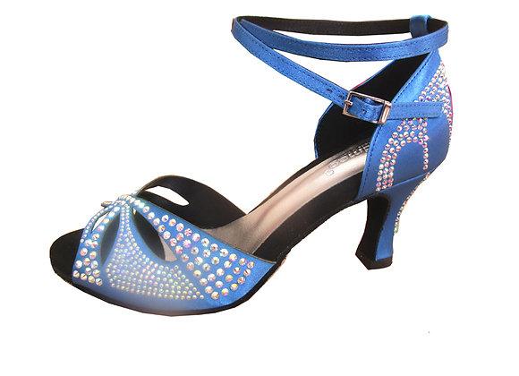 chaussures de danse de salon GRAZIELLA satin bleu