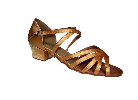 chaussure de danse  de salon fillette BELLA en satin chair