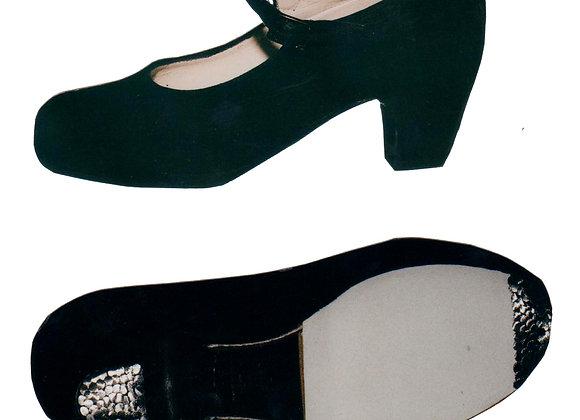 Chaussures de Flamenco et Sévillane CORREA daim noir