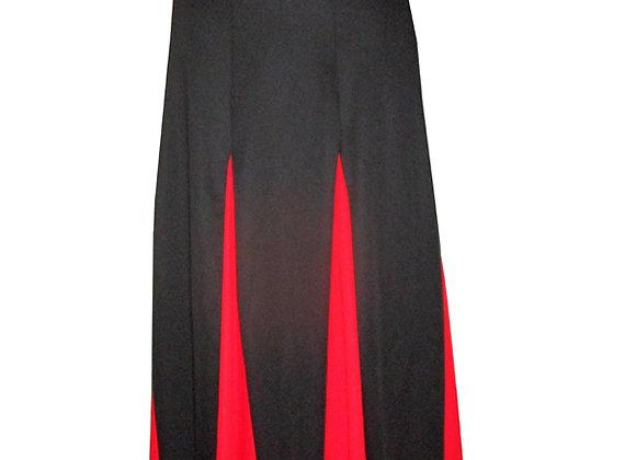 jupe de Flamenco femme ESTRELLA en noir et rouge
