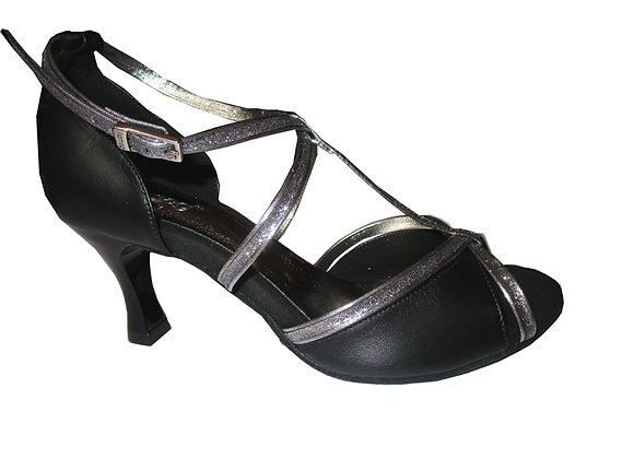 chaussure de danse latine à salomé CLELIA coloris noir