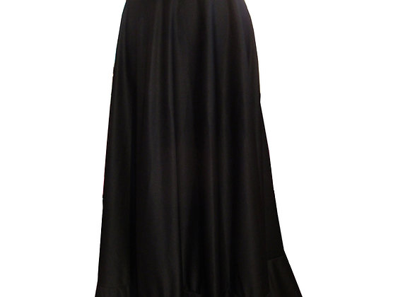 jupe de Flamenco femme ABELIA coloris noir à biais rouge