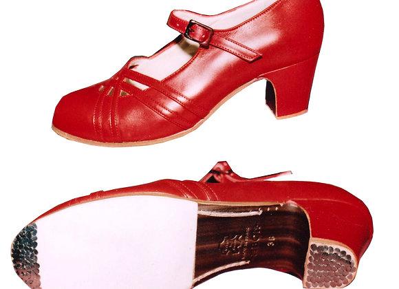 CALADO  rouge - chaussure de Flamenco