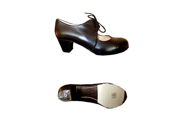 chaussures de Flamenco femme CORDONERA cuir noir