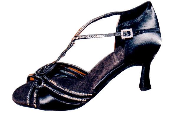 CALIFORNIA satin noir - Chaussures de danse
