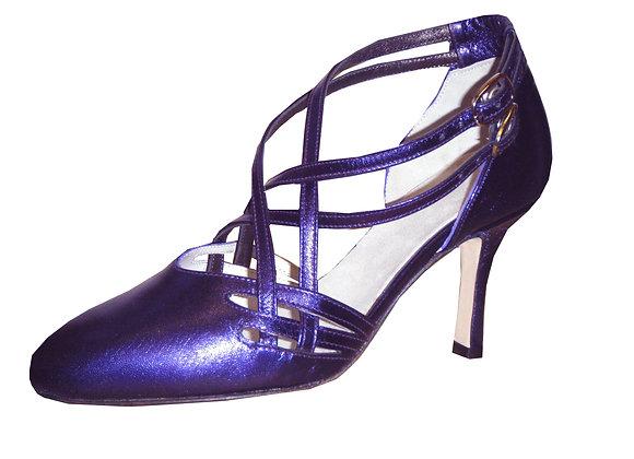 KART lamé violet - chaussures de tango