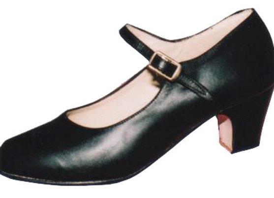 ELVIRA cuir noir - Chaussures de flamenco