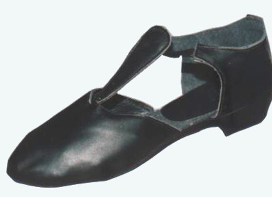 chaussures d'entrainement de danse PLUME cuir noir