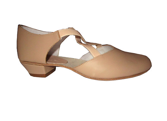chaussures d'entrainement de danse PLUME cuir beige