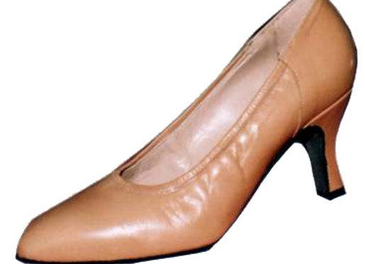 VANESSA cuir beige - Escarpin de danse standard