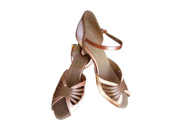 Chaussures de danse de salon LOS ANGELES satin chair