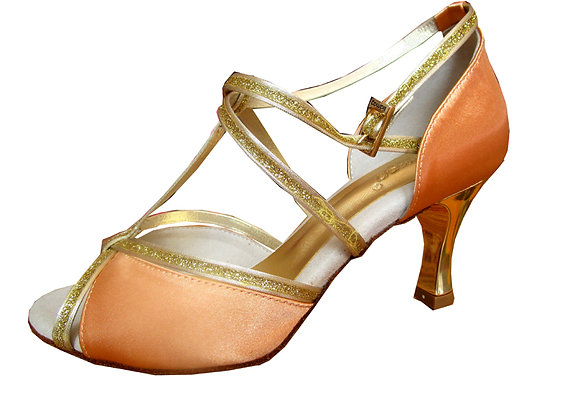 chaussures de danse latine CLELIA satin chair