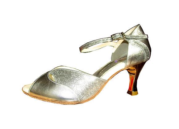 chaussure de danse de salon pour femme LAVINIA lamé argent