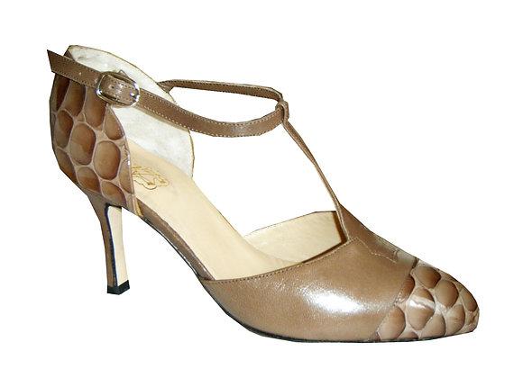 Charleston marron/cocco - Chaussure de danse