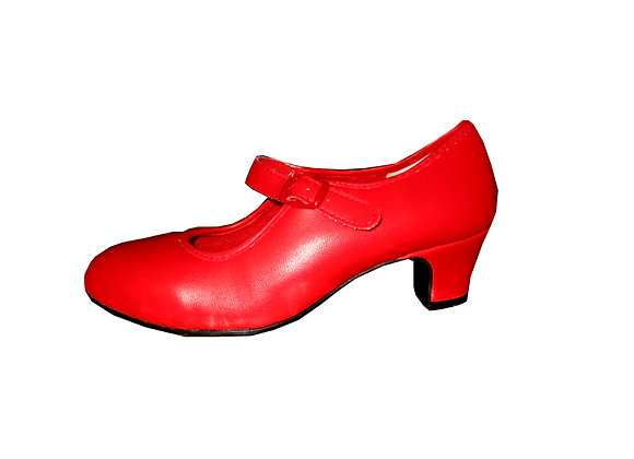 chaussure de Flamenco fillette CHIQUITA rouge
