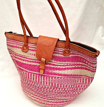 Woven Bag with Leather