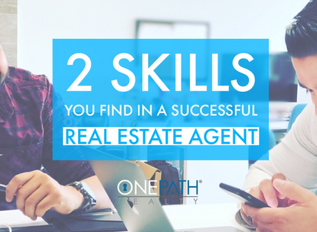 Two skills you find in a successful real estate agent