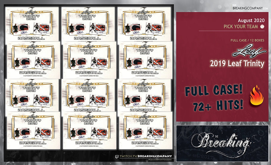 2019 Leaf Trinity 12-Box Case | PYT (Pick Your Team)