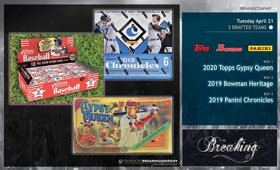 Topps Gypsy Queen / Bowman Heritage / Panini Chronicles 3-Team Draft