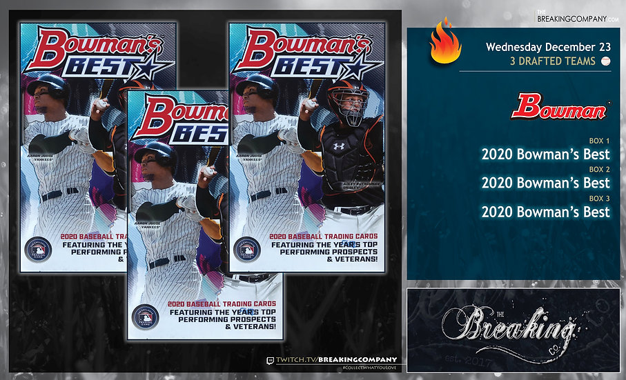 2020 Bowman's Best x3 | 3 Drafted Teams