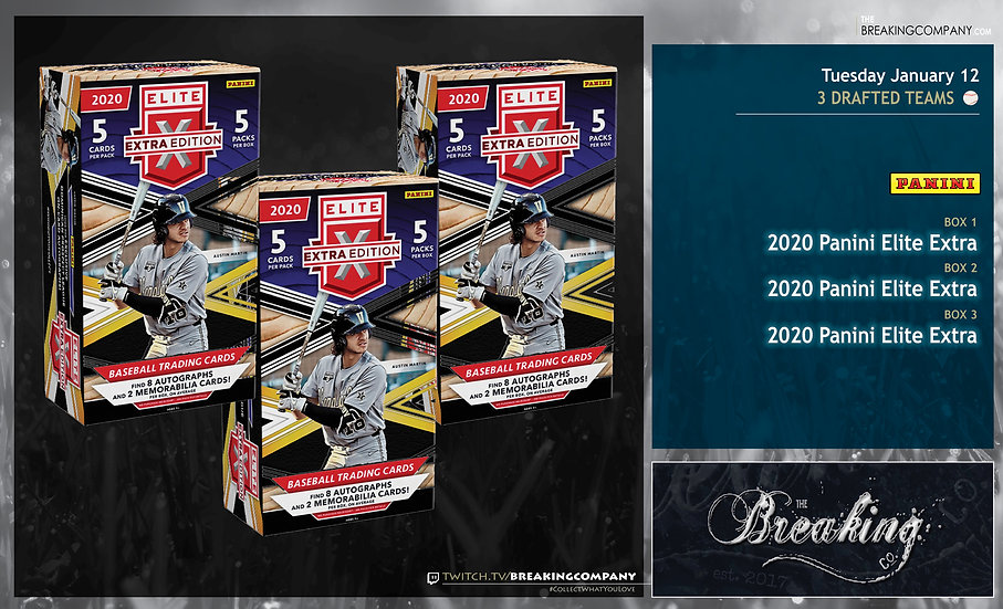 2020 Panini Elite Extra Edition x3 | 3 Drafted Teams