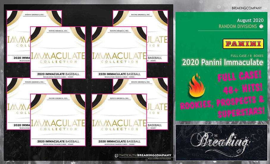 2020 Panini Immaculate 8-Box Case | Random Divisions