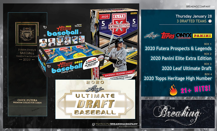 2020 Futera / Elite Extra / Ultimate Draft / High Number | 3 Drafted Teams