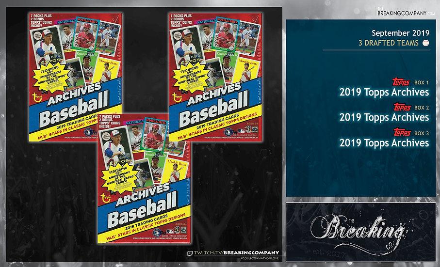 2019 Topps Archives 3-Box Draft Break