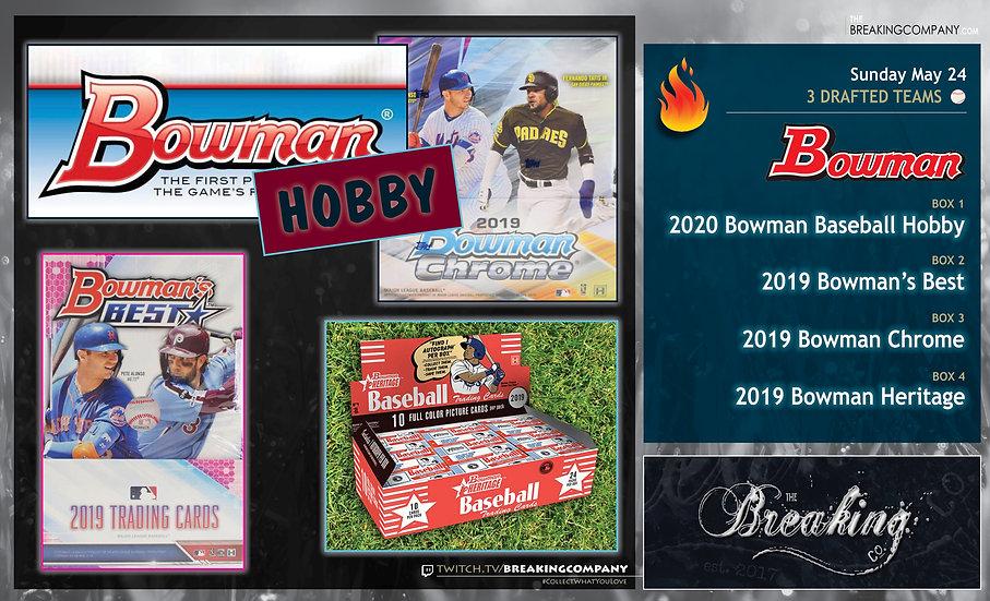 2020 Bowman Baseball / 2019 Bowman's Best / Chrome / Heritage | 3-Team Draft