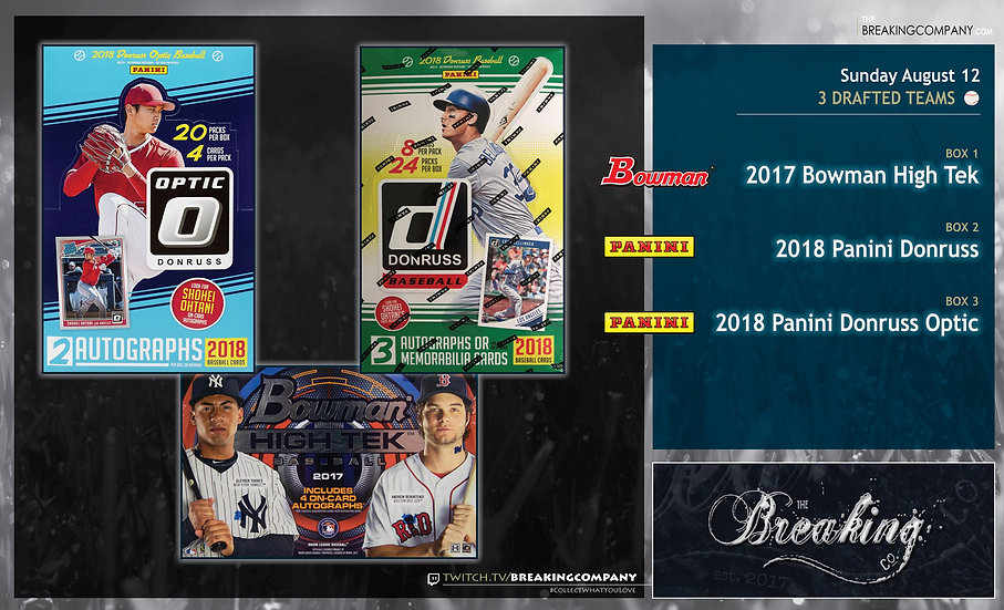 8/12: High Tek / Optic / Donruss