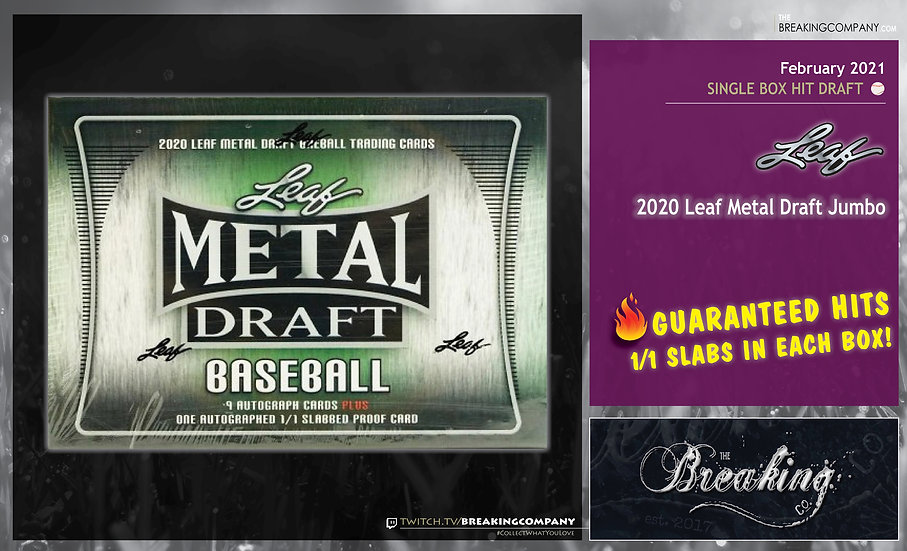2020 Leaf Metal Draft Baseball | Hit Draft