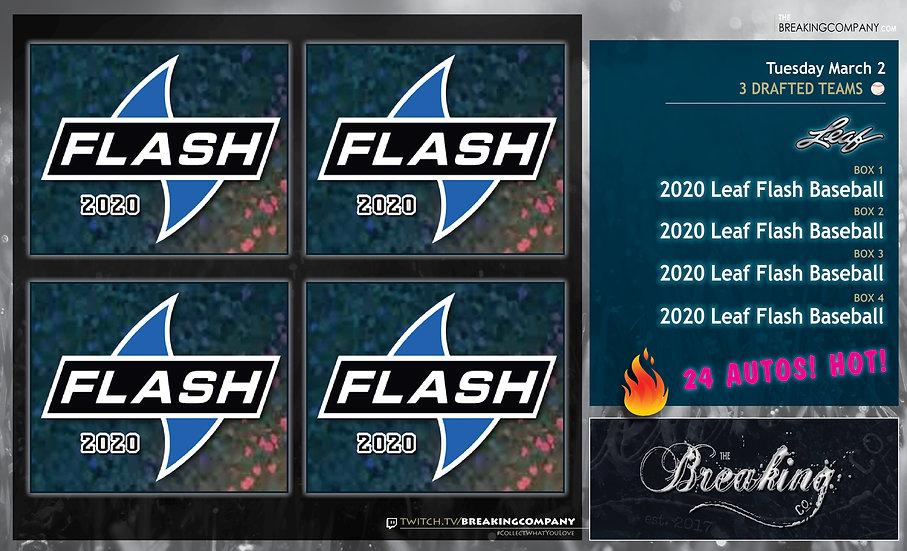 2020 Leaf Flash Baseball x4 | 3 Drafted Teams