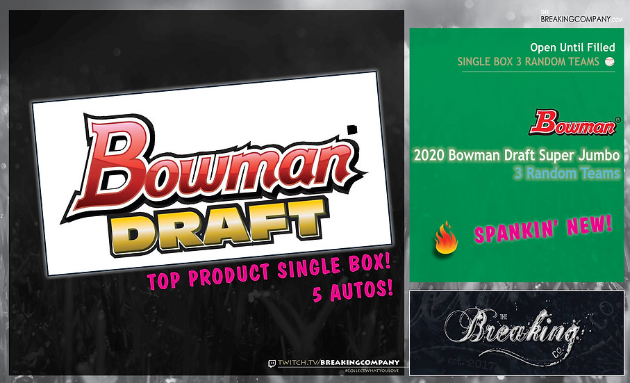 2020 Bowman Draft Super Jumbo Box | Triple Tier Random Teams w/ Trades