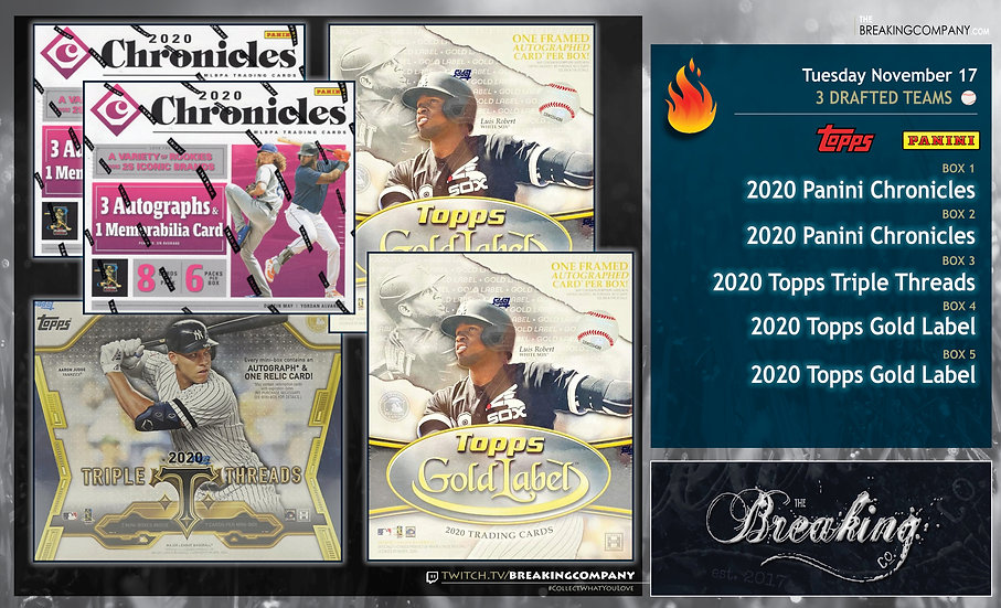 2020 Triple Threads / Chronicles x2 / Gold Label x2 | 3 Drafted Teams