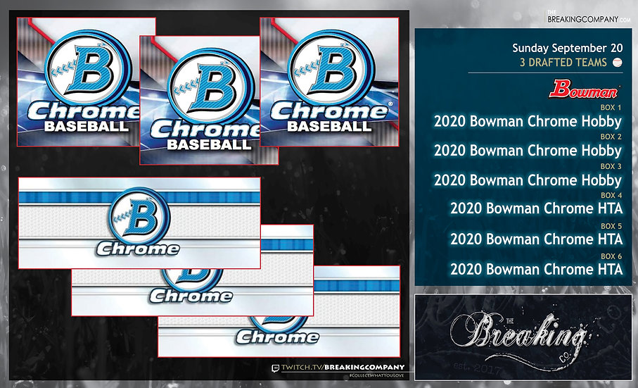 2020 Bowman Chrome Hobby x3 / HTA x3 | 3 Drafted Teams