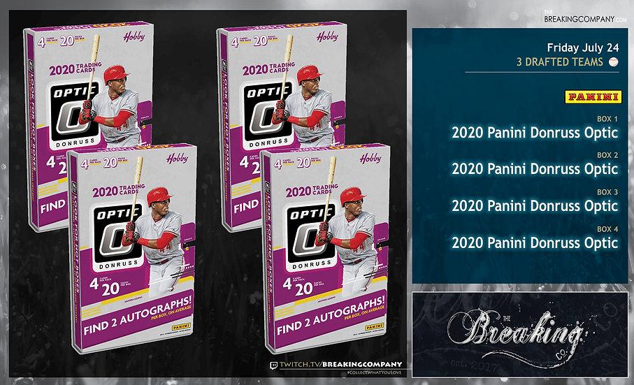 2020 Panini Donruss Optic | 3 Drafted Teams
