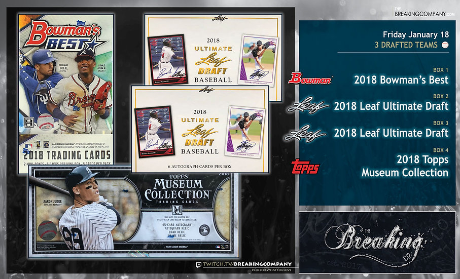 1/18: Bowman's Best / Ultimate Draft x2 / Museum Collection