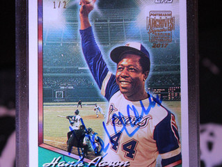 2017 Topps Archives Signature Series Postseason: Hank Aaron 1/2