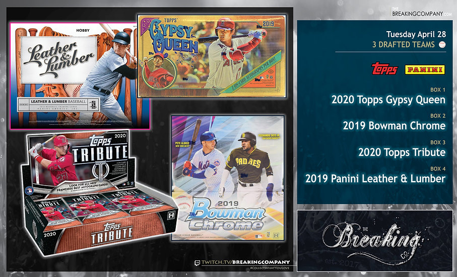 Topps Gypsy Queen / Tribute / Bowman Chrome / Panini Leather & Lumber Team Draft