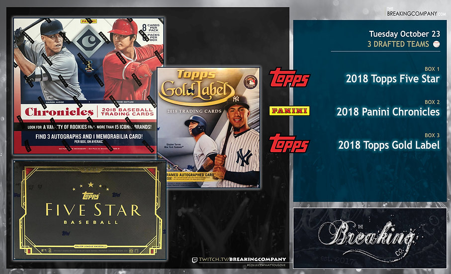 10/23: Five Star / Chronicles / Gold Label