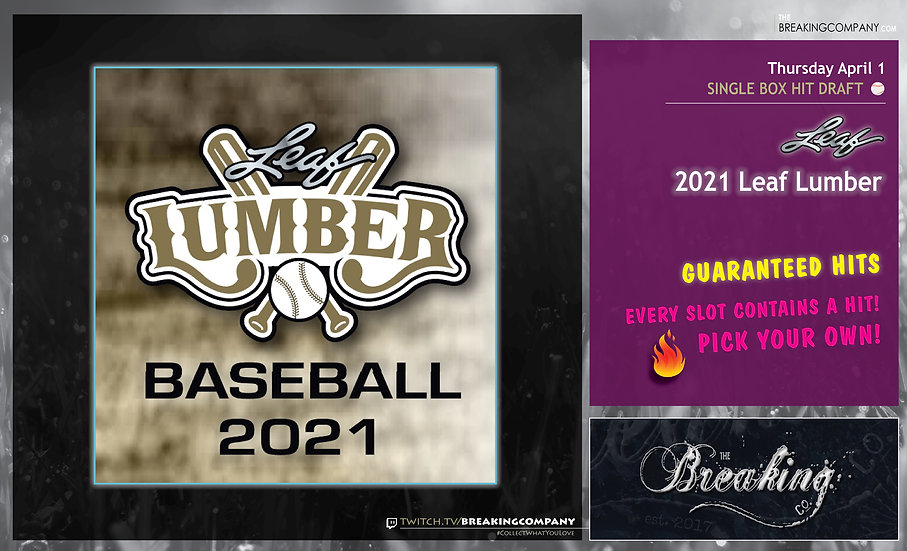 2021 Leaf Lumber Baseball | Hit Draft